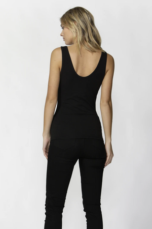Emma Scoop Tank by Betty Basic's - Black
