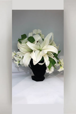 Fascinator hand made from Tasmania - White Lily