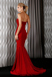 Jadore Gown in Navy, Wine, Emerald & Red - J9040