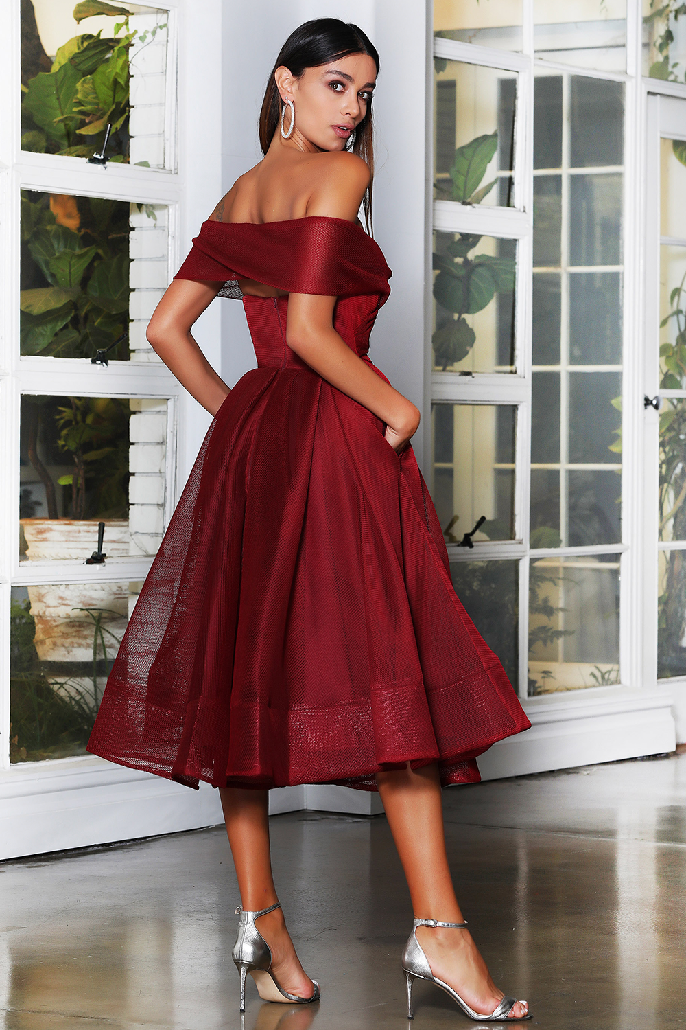 Jadore Dress in Maroon JX4003 - Available in all colours