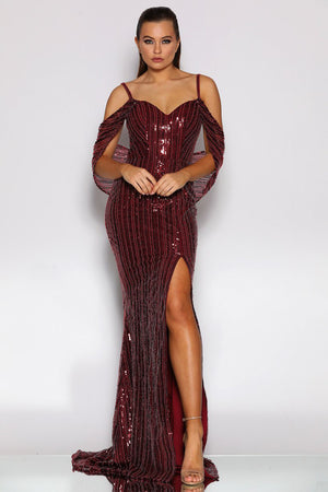 Jadore Gown JX2003 - Wine