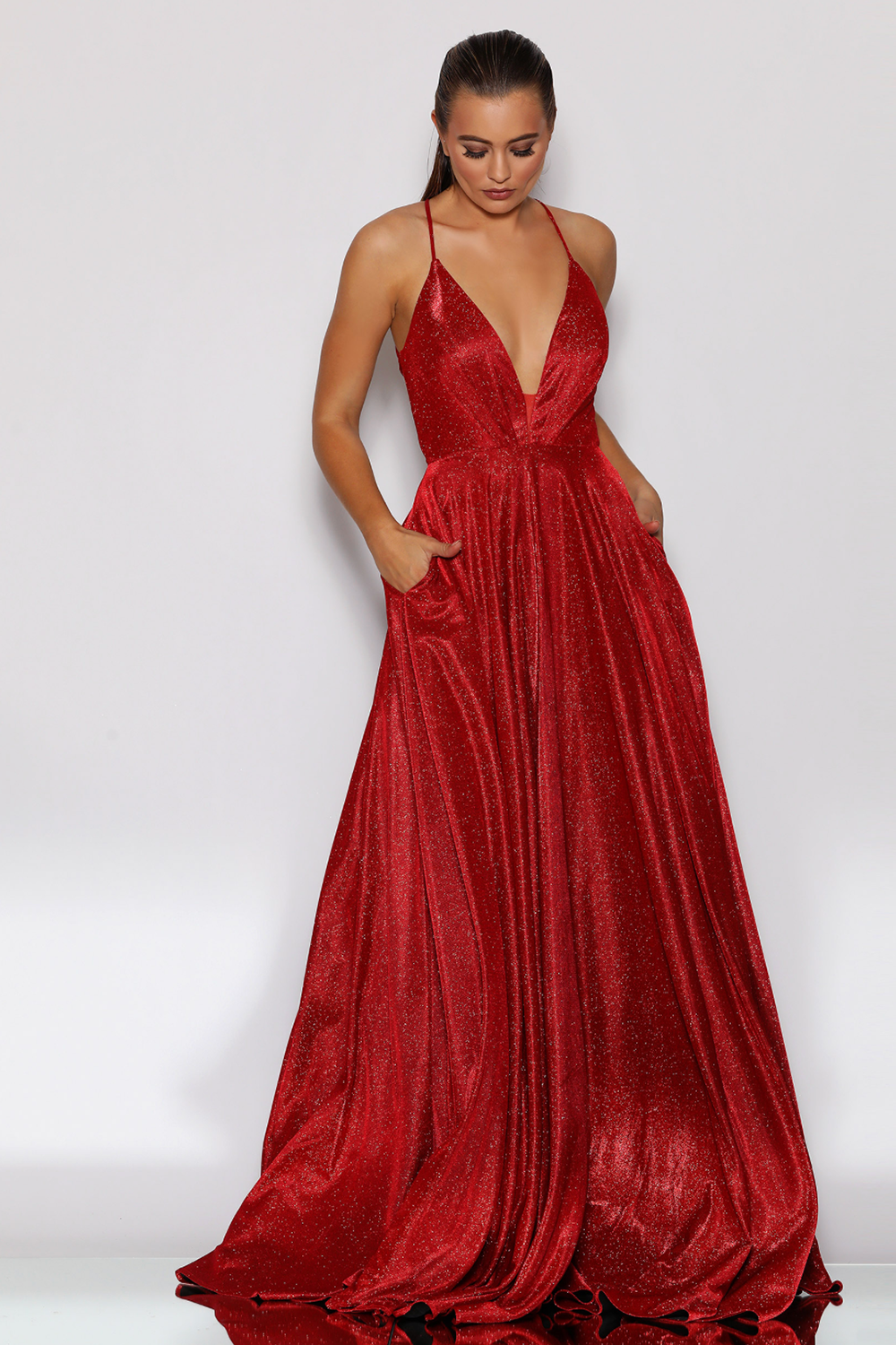 JX2106 Gown by Jadore- Red