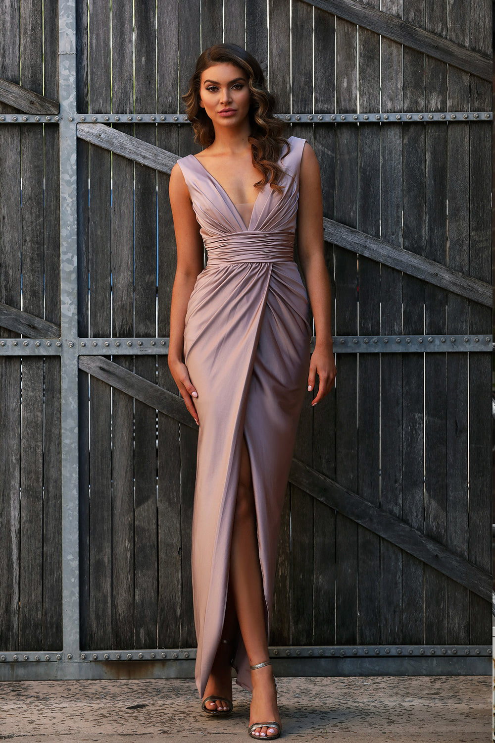 JX3013 Gown by Jadore - Mocha