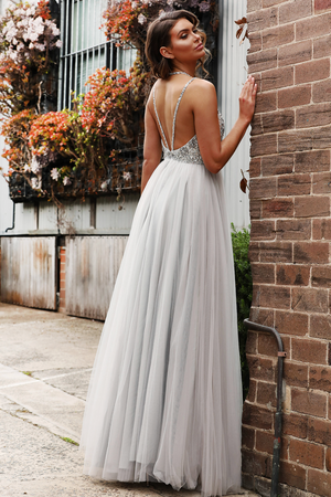 Jadore Gown JX3047 - Silver