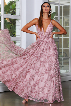 JX4064 Gown by Jadore - Anti-Pink