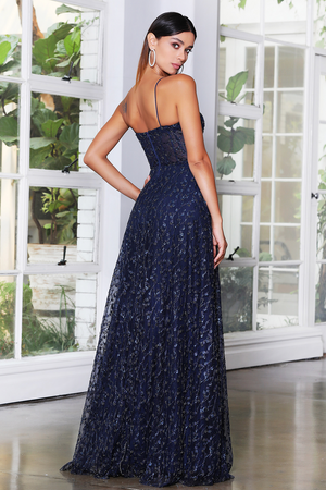 JX4065 Gown by Jadore - Navy