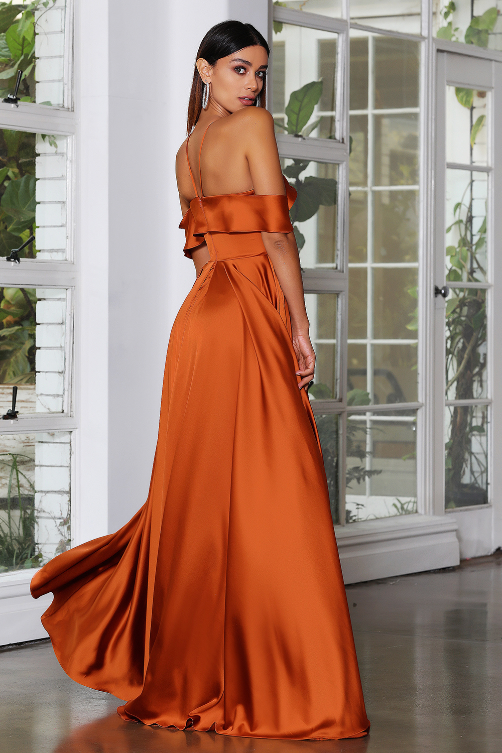 JX4084 gown by Jadore - Rust