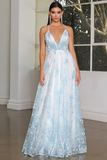 JX4086 Gown by Jadore- Light Blue