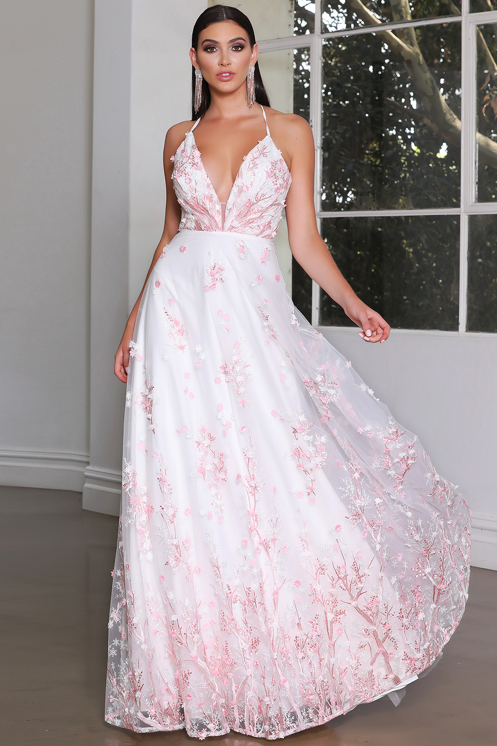 JX4086 Gown by Jadore- Light Pink