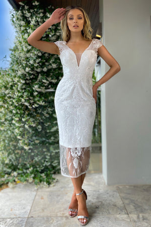 Jadore Dress JX5003 - Ivory