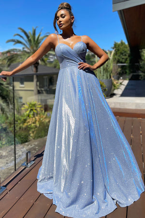 JX5007 Gown by Jadore - Light Blue