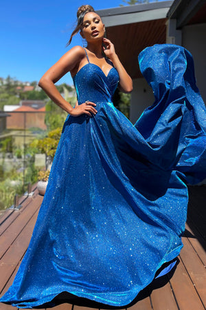 JX5007 Gown by Jadore - Electric Blue