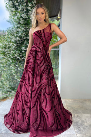 Jadore Gown JX5028 - Wine