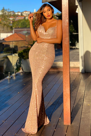 Jadore Gown JX5068 - Rose Gold