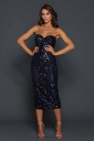 Jones Dress by Elle Zeitoune in Navy