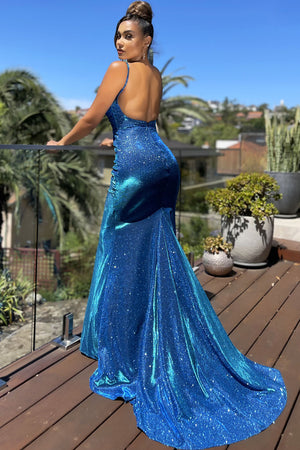 JX4010 Gown by Jadore - Electric Blue