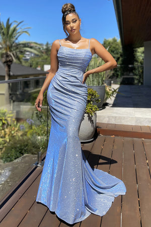 JX4010 Gown by Jadore - Light Blue
