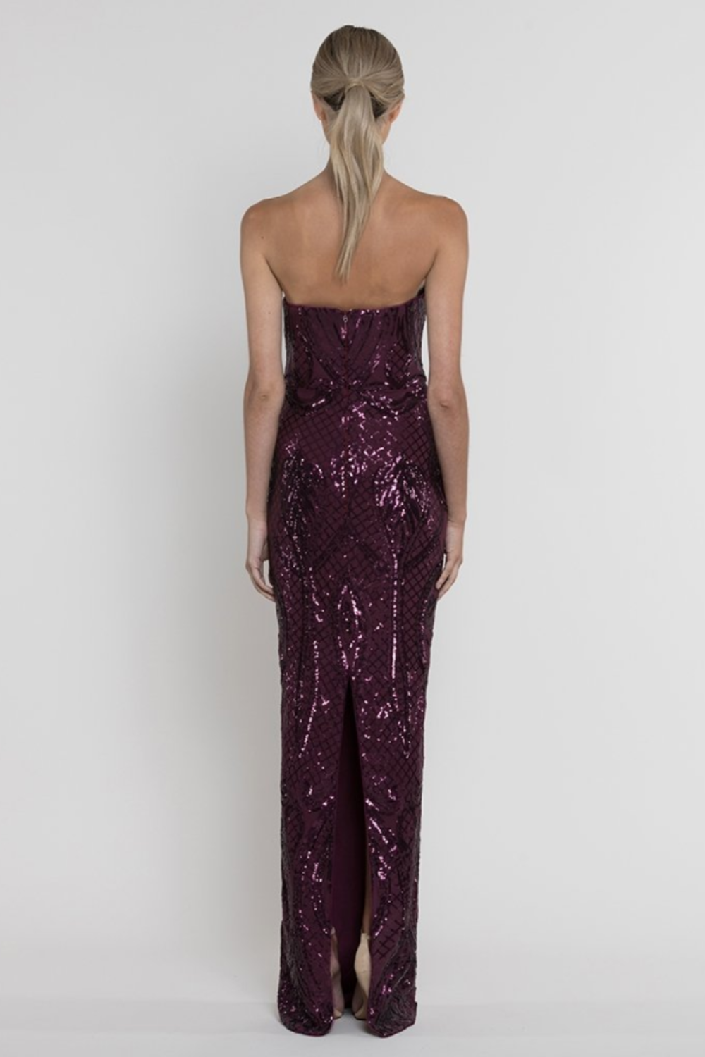 Amy Strapless Sequin Gown
