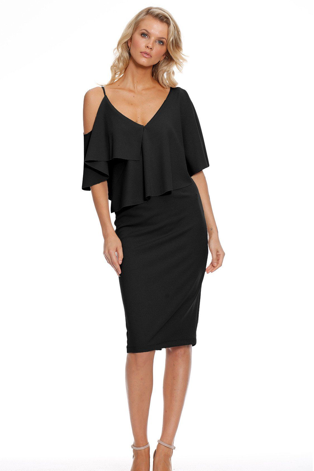 Pasduchas Felicity Midi Dress in Black