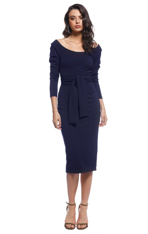 Pasduchas Cody Midi Dress in Navy