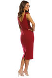 Profile Plunge Midi - Berry by Pasduchas