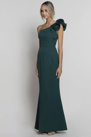 Sue Frill Gown BB33D31 by Bariano - Emerald