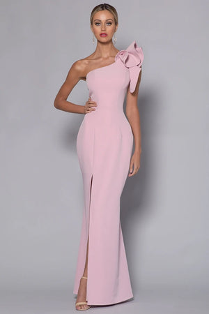 Sue Frill Gown BB33D31 by Bariano - Blush