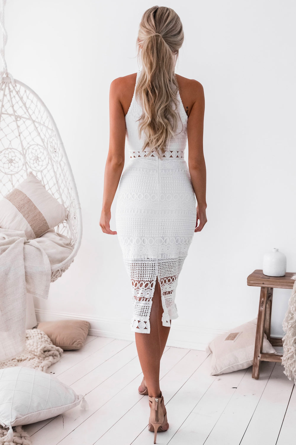 Twosisters Rivers Midi in White