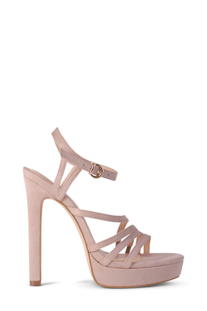 Felise Heels by Verali in Blush Micro