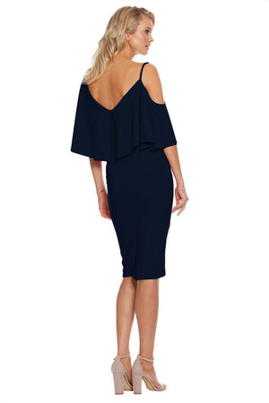 Pasduchas Felicity Midi Dress in Navy