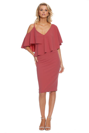 Pasduchas Felicity Midi Dress in Persimmon