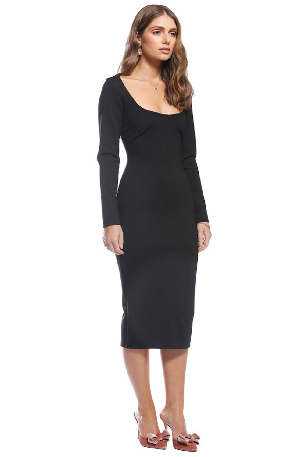 Pasduchas Destiny Midi Dress in Black
