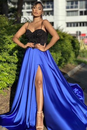 Jadore Gown JX4075 - Black/Royal Blue