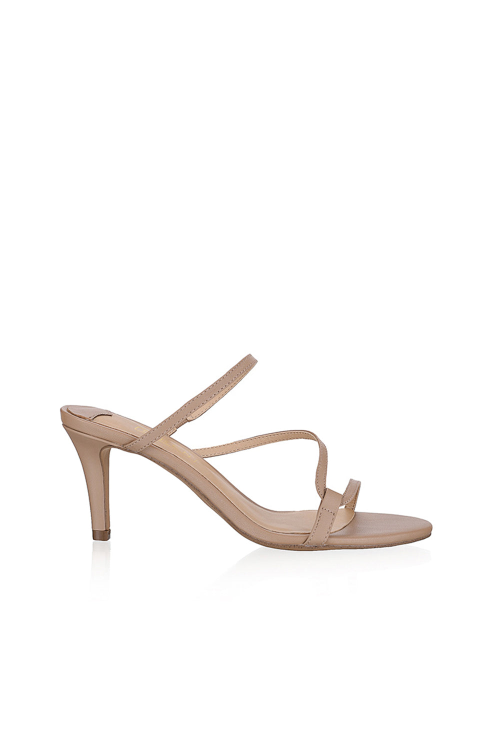 Dot Heel Nude Leather by Siren