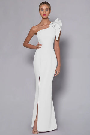 Sue Frill Gown BB33D31 by Bariano - White