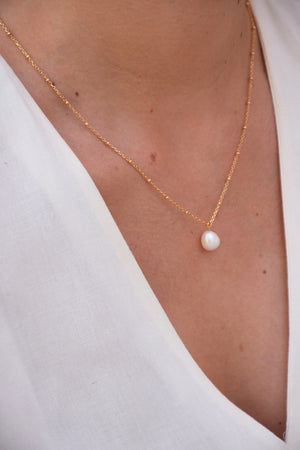 UZÈS | Collier gold filled perlé | BEST-SELLER - Bazile Provence