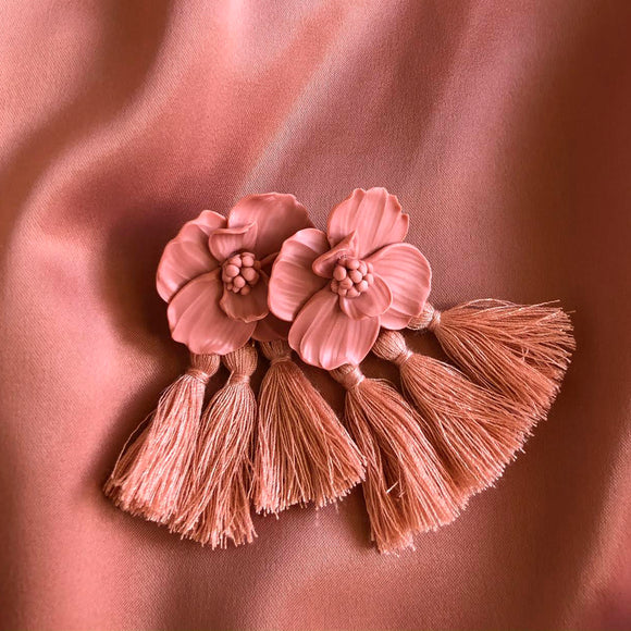 Paris Pink | Tassel earrings