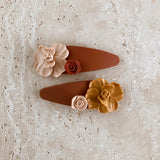 Burnt Orange Hair Barrettes | Set of 2