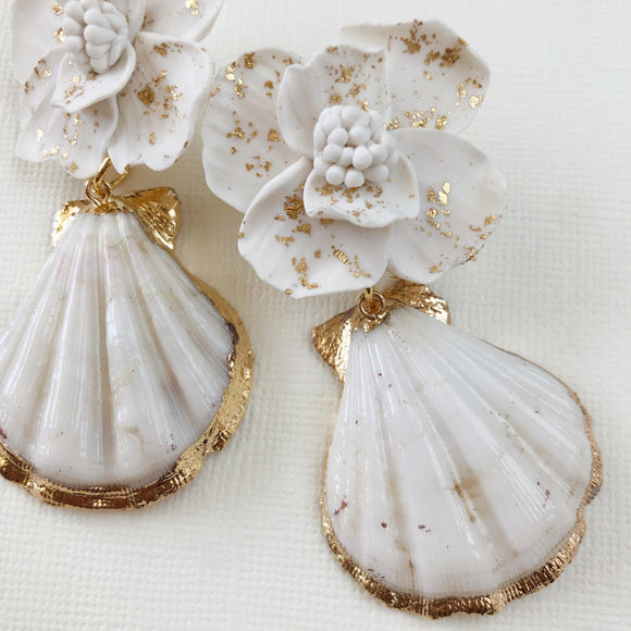Alchemy | Flower & Seashell Earrings