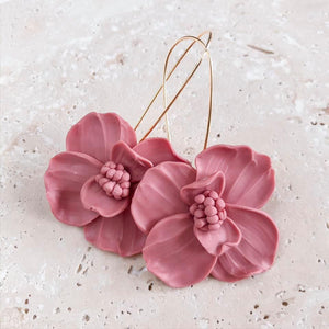 The Strawberry Pincushion Earrings | 18K Gold