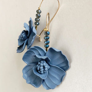 Pincushion | Blue dangle earrings