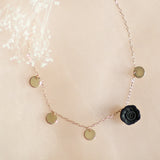 The essential | dainty, stackable necklace | black