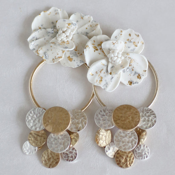 Glitterati | Floral Hoop Earrings *LIMITED EDITION*
