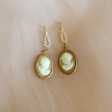 Nostalgia | white cameo earrings