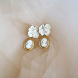 Bottega | handmade cameo earrings