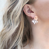 Dolce Vita | Blush stud earrings | 18K gold posts