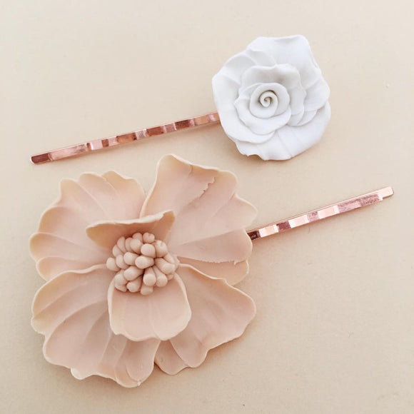 Rose Gold Hair Pins | set of 2