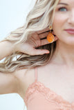 Calypso | orange Seashell earrings