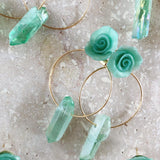 Seaglass | hoop earrings