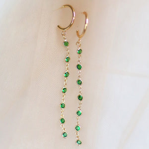 Damsel | green crystal earrings